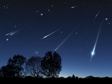 Meteor Shower, Artwork Premium Photographic Print by Detlev Van Ravenswaay