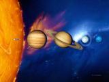 Sun And Its Planets Affiche par Detlev Van Ravenswaay