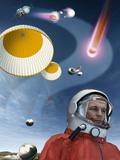 Yuri Gagarin's Landing, Artwork Photographic Print by Detlev Van Ravenswaay