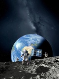 ESA Lunar Exploration, Artwork Prints by Detlev Van Ravenswaay