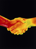 Thermogram of a Handshake Photographic Print by Dr. Arthur Tucker
