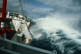 RRS John Biscoe In Heavy Seas, Drake's Passage Print by David Vaughan