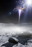 Apollo 11 Moon Landing, Artwork Fotodruck von Detlev Van Ravenswaay