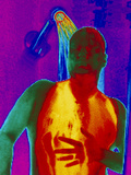 Thermogram of a Man Taking a Shower Photographic Print by Dr. Arthur Tucker