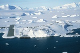 Aerial View of Rothera Station, Antarctica Photographic Print by David Vaughan