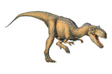 Allosaurus Dinosaur Photographic Print by Joe Tucciarone