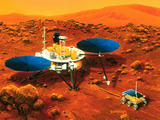 Artwork of Mars Surveyor 2001 Lander on Mars Photographic Print by Detlev Van Ravenswaay