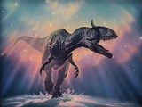 Cryolophosaurus Dinosaur Fotografisk tryk af Joe Tucciarone