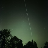 ISS Light Trail, Time-exposure Image Photographic Print by Detlev Van Ravenswaay