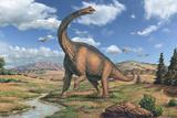 Brachiosaurus Dinosaur Posters by Joe Tucciarone