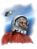 Yuri Gagarin, Soviet Cosmonaut, Artwork Print by Detlev Van Ravenswaay