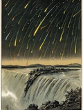 Leonid Meteor Shower of 1833, Artwork Photographic Print by Detlev Van Ravenswaay