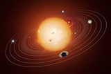 Solar System Orbits, Artwork Print by Detlev Van Ravenswaay