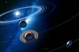 Solar System Photographic Print by Detlev Van Ravenswaay