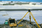 GPS Receiver for Measuring Glacier Flow Rates Print by David Vaughan