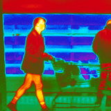 Thermogram of a Woman In a Supermarket Photographic Print by Dr. Arthur Tucker