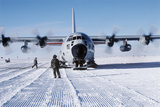 Antarctic Airfield Print by David Vaughan