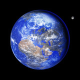 Earth And Moon Photographic Print by Detlev Van Ravenswaay