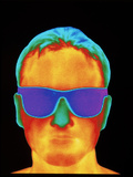 Thermogram of the Front View of a Man's H Photographic Print by Dr. Arthur Tucker
