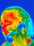 Telephone Thermogram Photographic Print by Dr. Arthur Tucker