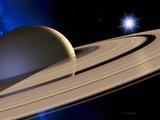 Saturn's Rings Premium Photographic Print by Detlev Van Ravenswaay