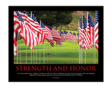 Strength And Honor Premium Giclee Print by  SM Design
