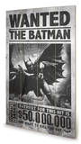 Batman Arkham Origins - Wanted Wood Sign Panneau en bois