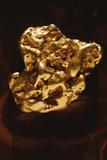 Gold Nugget Fotografisk tryk af Dirk Wiersma