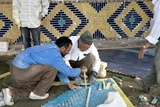 Laying a Mosaic Floor, Iran Photographic Print by Dirk Wiersma