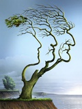 Family Tree, Conceptual Artwork Photographic Print by  SMETEK