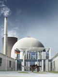 Nuclear Power Station, Artwork Photographic Print by  SMETEK