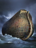 Literary Ark, Conceptual Artwork Premium Photographic Print by  SMETEK