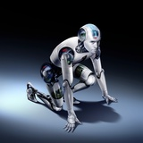 Humanoid Robot, Artwork Premium Photographic Print by  SMETEK