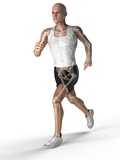 Jogger, Artwork Photographic Print by  SCIEPRO