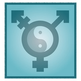 Transgender Balance, Conceptual Artwork Premium Photographic Print by Stephen Wood