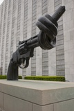 Gun Sculpture At United Nations New York. Photographic Print by Mark Williamson