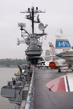 Military Jets on Aircraft Carrier. Photographic Print by Mark Williamson