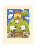 Yellow Farmhouse Premium Giclee Print by Sophie Harding