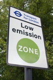 Low Emission Zone Sign In Essex, UK. Poster by Mark Williamson