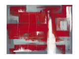 Red Abstract Premium Giclee Print by Leigh Banks