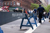 New York Police Crowd Control Barriers. Photographic Print by Mark Williamson