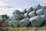 Wrapped Hay Bales Photographic Print by Mark Williamson