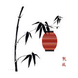 Geisha II Premium Giclee Print by Jenny Tsang