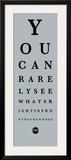 Eye Chart II Posters