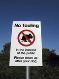 No Fouling Sign Photographic Print by Linda Wright