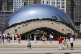 Cloud Gate Sculpture In Chicago Photographic Print by Mark Williamson