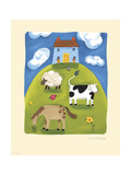 Blue Farmhouse Premium Giclee Print by Sophie Harding