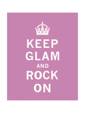 Keep Glam and Rock On Premium Giclee Print by  The Vintage Collection