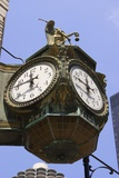 Ornate Clock In Chicago Print by Mark Williamson