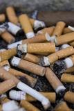 Cigarette Ends Fotografisk tryk af Mark Williamson